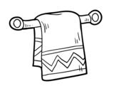 Disegno di Asciugamano per le mani da colorare