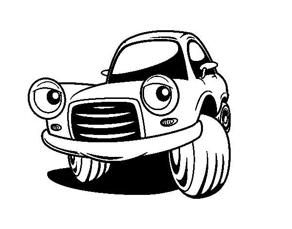 Disegno di Auto da città divertente da Colorare