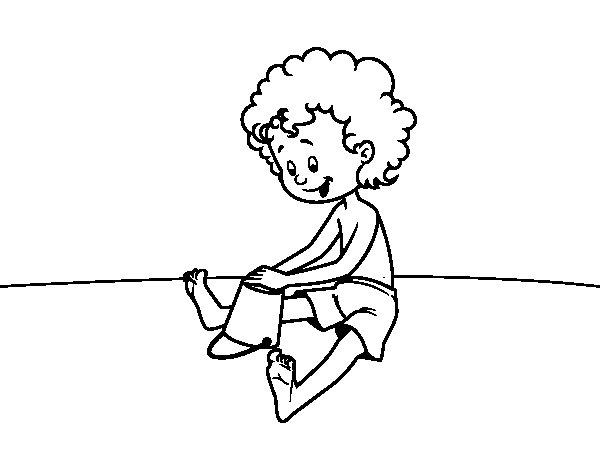Disegno di Bambini che giocano nella sabbia da Colorare