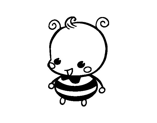 Disegno di Bebè ape da Colorare