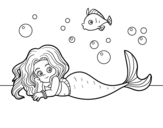 Disegno di Belle sirena da colorare