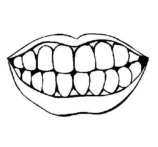 Amato Disegno di Bocca e denti da Colorare - Acolore.com BZ64