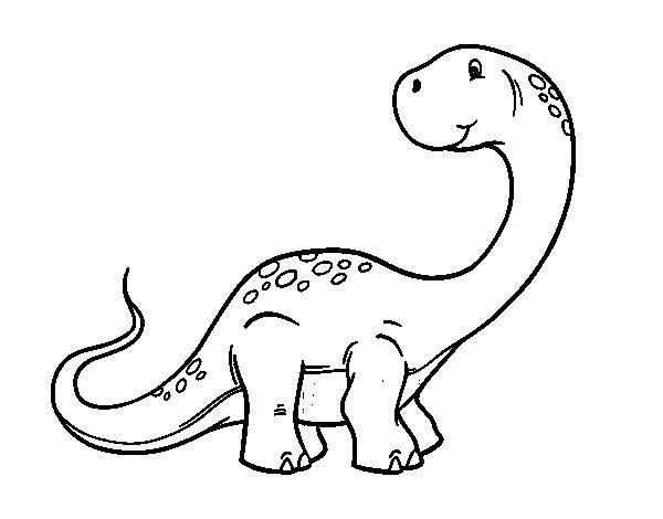 Disegno di Brachiosaurus altithorax da Colorare