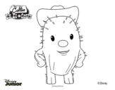 Disegno di Callie sceriffa del West - Toby da colorare