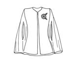 Disegno di Camicia elegante con spilla da colorare