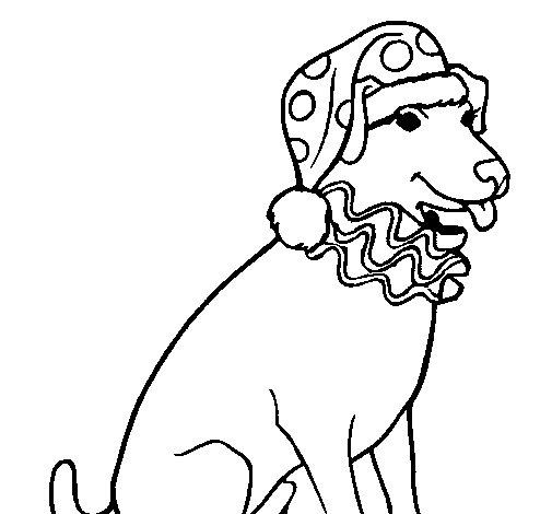 Disegno Di Cane Pagliaccio Da Colorare