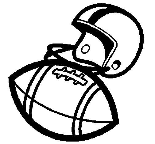 Disegno di Casco e pallone  da Colorare