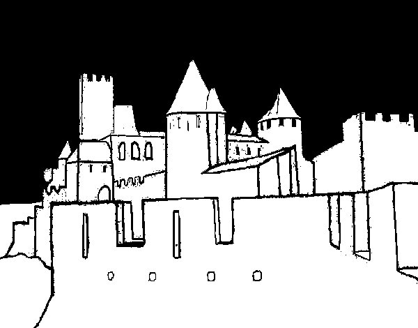 Disegno di Castello antico da Colorare
