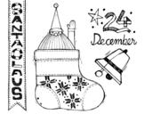 Disegno di Collage Babbo Natale da colorare