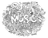 Disegno di Collage musicale da colorare