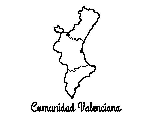 Disegno di Communauté valencienne da Colorare