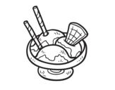 Disegno di  Coppa di gelato de sorvete da colorare