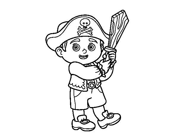 Disegno di Costume da pirata da Colorare