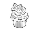 Disegno di Cupcake limone da colorare
