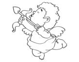 Disegno di Cupido con la sua freccia da colorare