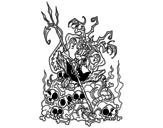 Disegno di Diavolo noioso da colorare