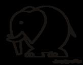 Disegno di Elefante grosso da colorare