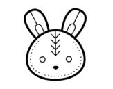 Disegno di Faccia coniglio di Pasqua da colorare
