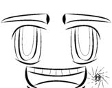 Dibujo de Faccina sorridente