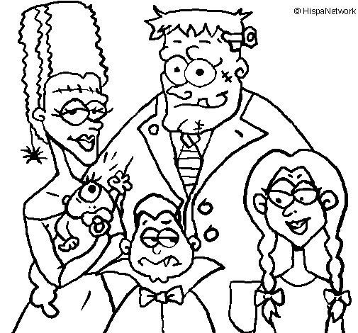 Disegno di Famiglia di mostri  da Colorare