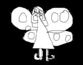 Disegno di Fata Farfalla da colorare
