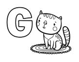 Disegno di G di Gatto da colorare