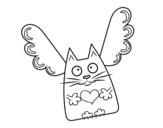 Disegno di Gatto Cupido da colorare