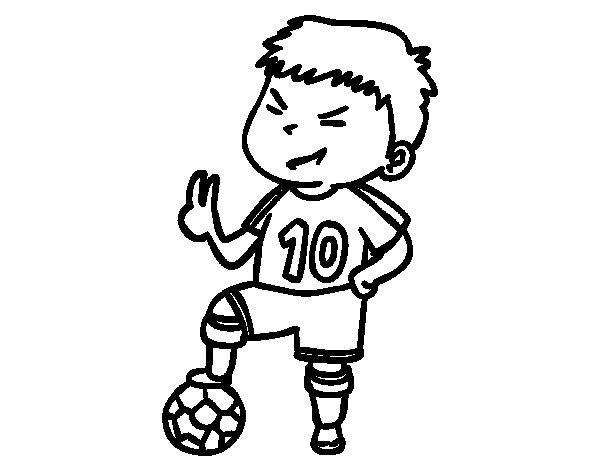 Dibujos De Futbolistas Famosos Para Colorear: Disegno Di Giocatore Numero 10 Da Colorare
