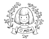 Disegno di I love mom da colorare