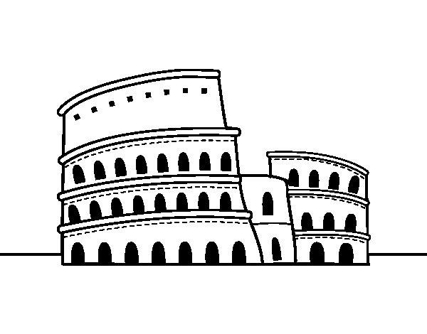 Disegno Di Il Colosseo Di Roma Da Colorare