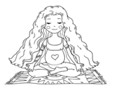 Disegno di Incinta praticare lo yoga da colorare