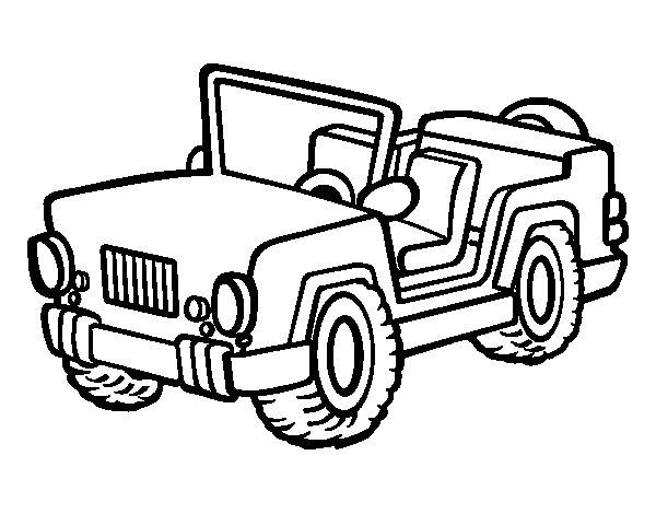 Disegno di jeep da colorare for Jeep da colorare