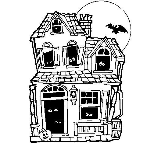 Disegno di la casa del mistero ii da colorare for Disegno del programma di casa