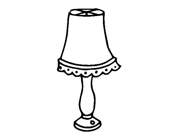 Disegno Lampadario Da Colorare