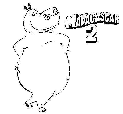Disegno di Madagascar 2 Gloria da Colorare