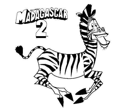 Disegno di Madagascar 2 Marty da Colorare