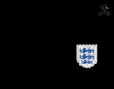 Disegno di Maglia dei mondiali di calcio 2014 dell'Inghilterra da colorare