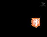 Disegno di Maglia dei mondiali di calcio 2014 dell'Olanda da colorare