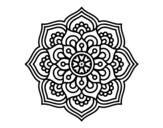 Disegno di Mandala fiore di la concentrazione da colorare
