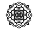 Disegno di Mandala semplice simmetria da colorare