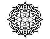 Disegno di Mandala vita vegetale da colorare