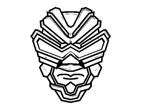 Disegno di Maschera di raggi gamma da Colorare