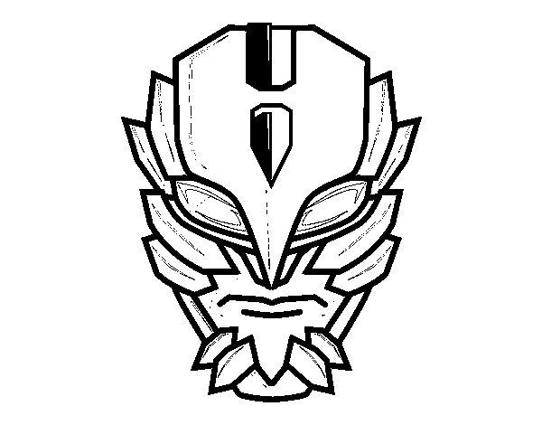 Disegno di Maschera di supercattivo da Colorare