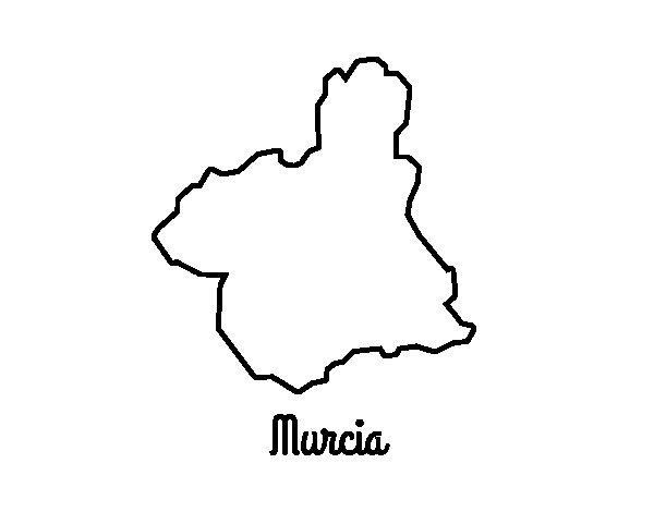 Disegno di Murcia da Colorare
