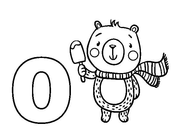 Disegno di O di Orso da Colorare
