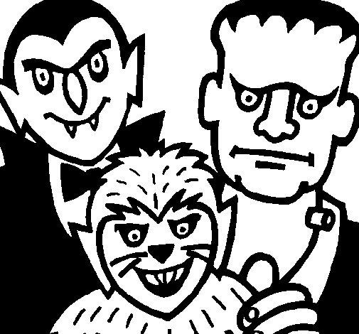 Disegno Di Personaggi Halloween Da Colorare