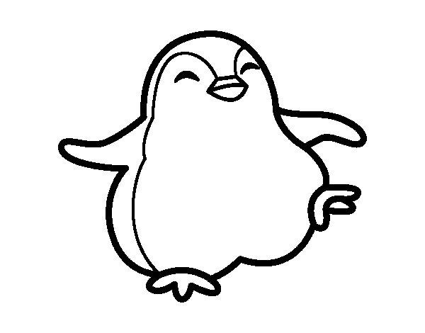 Disegno di pinguino ballerino da colorare for Pinguino da colorare
