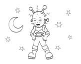 Disegno di Robot astronauta da colorare