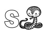 Disegno di S di Serpente da colorare