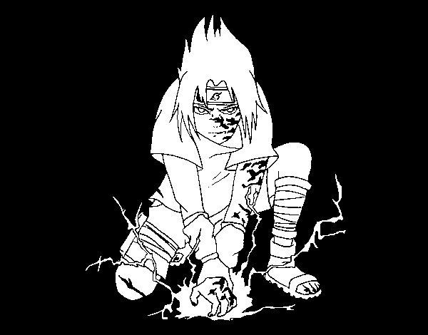 Disegno di Sasuke da Colorare